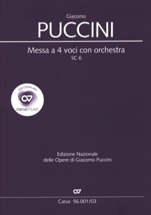 Giacomo Puccini - Messa tiene 4 voci con orchestra SC 6 - Partitura - di-arezzo.es