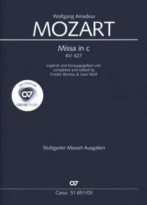 Grande messe en Ut mineur Kv 427 - MOZART - laflutedepan.com
