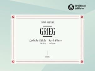 Pièces lyriques sélection Edward Grieg Partition Orgue - laflutedepan