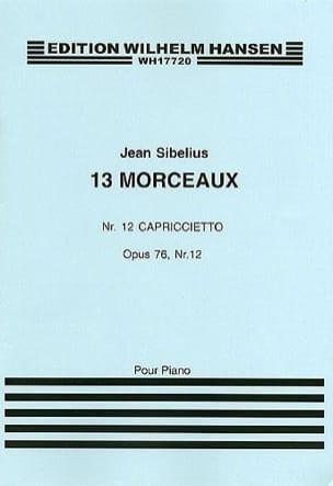 Jean Sibelius - Capriccietto op. 76-12 - Partition - di-arezzo.fr