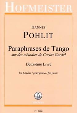 Paraphrases de Tango. 2ème livre Hannes Pohlit Partition laflutedepan