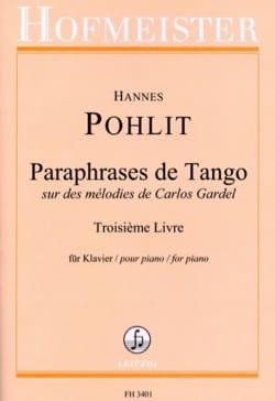 Paraphrases de Tango. 3ème livre Hannes Pohlit Partition laflutedepan