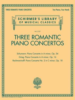 Schumann Robert / Grieg Edward / Rachmaninov Sergei - 3 concertos romantiques - Partition - di-arezzo.fr