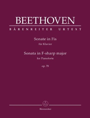 BEETHOVEN - Sonate Pour Piano n° 24 Fa dièse majeur Opus 78 - Partition - di-arezzo.fr
