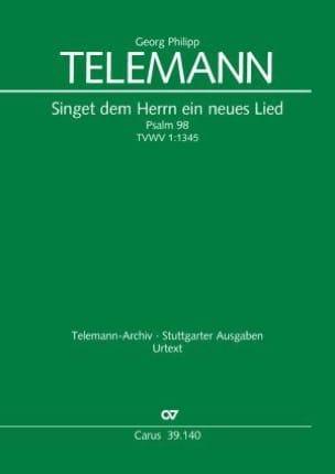 Georg Philipp Telemann - Singet dem Herrn ein neues Lied Tvwv 1:1345 - Partition - di-arezzo.fr