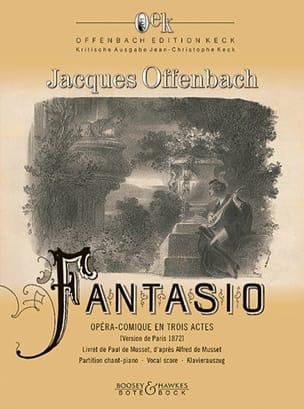 Jacques Offenbach - Fantasio - Partition - di-arezzo.fr