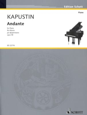 Andante Opus 58 Nikolai Kapustin Partition Piano - laflutedepan