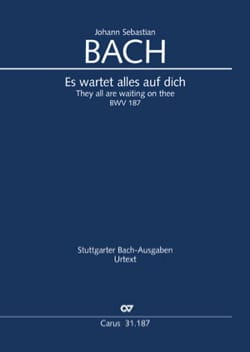 BACH - Cantate 187 Es wartet alles auf dich - Partition - di-arezzo.fr