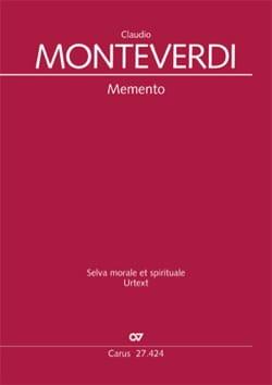 Claudio Monteverdi - Memento SV 276 - Partition - di-arezzo.fr