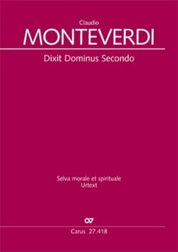 Claudio Monteverdi - Dixit Dominus Secondo SV 264 - Partition - di-arezzo.fr