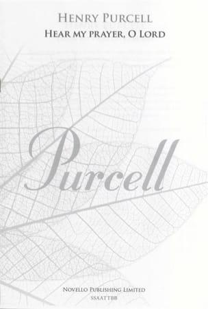 Hear my prayer, O Lord PURCELL Partition Chœur - laflutedepan
