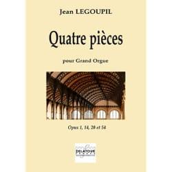 4 pièces pour grand orgue Jean Legoupil Partition Orgue - laflutedepan