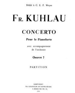 Concerto pour piano op. 7 Friedrich Kuhlau Partition laflutedepan