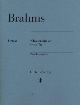 Klavierstücke Opus 76 BRAHMS Partition Piano - laflutedepan