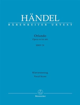 HAENDEL - Orlando Hwv 31 New Review - Partition - di-arezzo.com