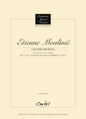 Etienne Moulinié - Airs for voice and lute of the 3rd Book of Court Airs with tablature 1629 - Sheet Music - di-arezzo.com