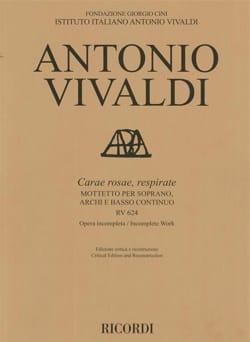 VIVALDI - Carae rosae, respirate RV 624 - Sheet Music - di-arezzo.com