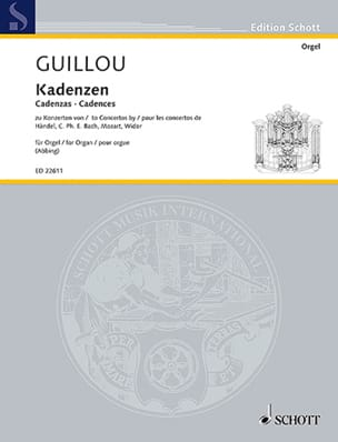 Cadences Jean Guillou Partition Orgue - laflutedepan