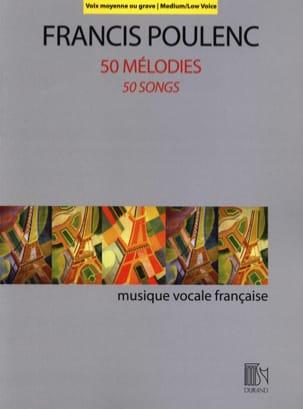 50 Mélodies Voix Moyenne-Grave Francis Poulenc Partition laflutedepan