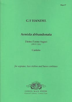 Georg-Friedrich Haendel - Armida abbandonata - Partition - di-arezzo.fr
