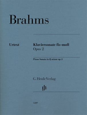 BRAHMS - Sonate pour piano n° 2 Opus 2 - Partition - di-arezzo.fr