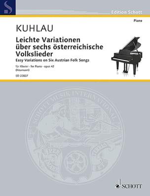 Friedrich Kuhlau - Leichte Variationen über 6 österreichische Volklieder op. 42 - Partition - di-arezzo.co.uk