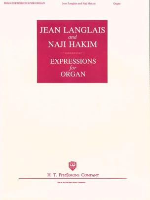 Expressions Jean / Hakim Naji Langlais Partition Orgue - laflutedepan
