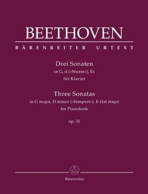 3 Sonates Pour Piano Opus 31 - BEETHOVEN - laflutedepan.com