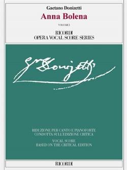 Anna Bolena. Edition Critique DONIZETTI Partition laflutedepan