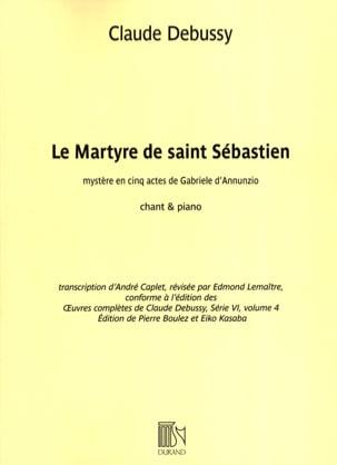 Le Martyre de Saint Sébastien DEBUSSY Partition Opéras - laflutedepan