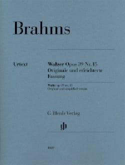 Valse Opus 39-15 - Johannes Brahms - Partition - laflutedepan.com