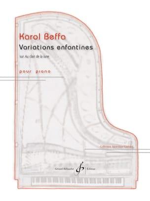 Variations enfantines Karol Beffa Partition Piano - laflutedepan