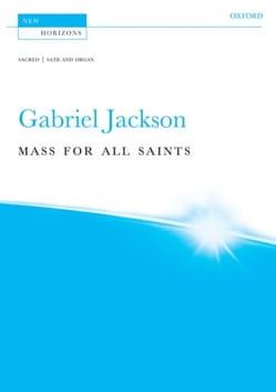 Mass for all Saints Gabriel Jackson Partition Chœur - laflutedepan