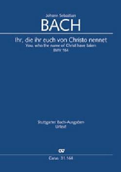 Cantate 164 Ihr, die ihr euch von Christo nennet - laflutedepan.com