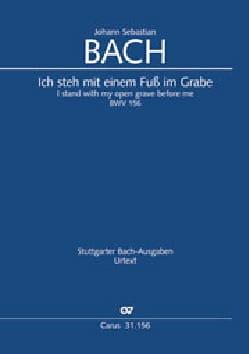 BACH - Cantate 156 Ich steh with einem Fuss im Grabe - Sheet Music - di-arezzo.com