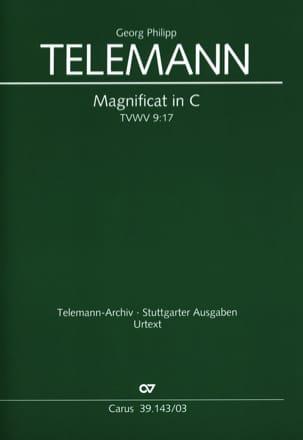 Georg Philipp Telemann - Magnificat en Do (C) TVWV 9:17 - Partition - di-arezzo.fr