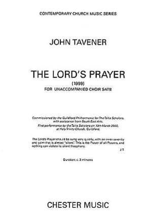 John Tavener - The Lord's Prayer. SATB 1999 - Sheet Music - di-arezzo.com
