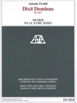 VIVALDI - Dixit Dominus Rv 807 - Sheet Music - di-arezzo.co.uk