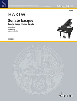 Sonate Basque Naji Hakim Partition Piano - laflutedepan