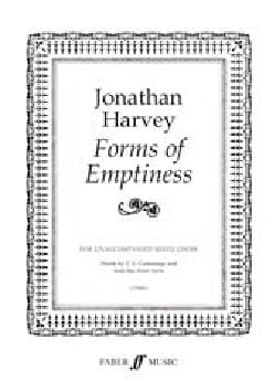 Forms of Emptiness - Jonathan Harvey - Partition - laflutedepan.com