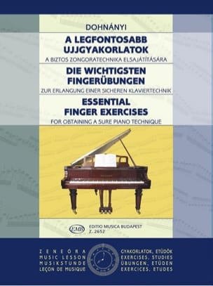 DOHNÁNYI - Finger exercises - Sheet Music - di-arezzo.co.uk