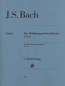 Clavier Bien-Tempéré volume 2 BACH Partition Piano - laflutedepan