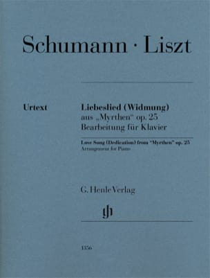 Liebeslied (Widmung) SCHUMANN / LISZT Partition Piano - laflutedepan
