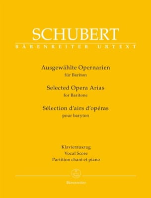 SCHUBERT - Selection of opera arias for baritone - Sheet Music - di-arezzo.com