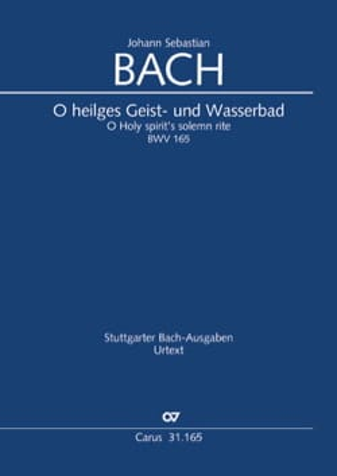 BACH - Cantate 165 O heiliges Geist - und Wasserbad - Partition - di-arezzo.fr