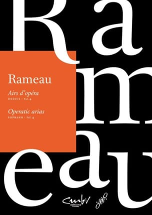 Jean-Philippe Rameau - Airs d'opéra Dessus volume 4 - Partition - di-arezzo.fr