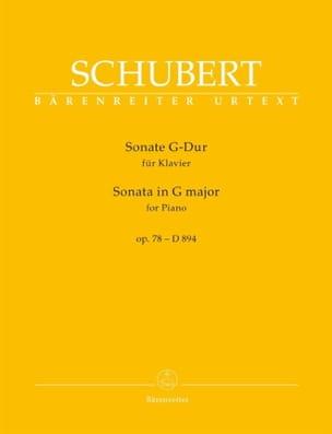 Franz Schubert - Sonate pour piano en Sol majeur op. 78 D 894 - Partition - di-arezzo.fr