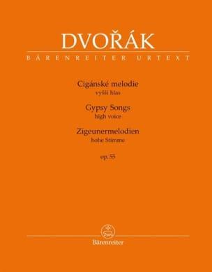 Zigeunermelodien Opus 55. Voix haute DVORAK Partition laflutedepan