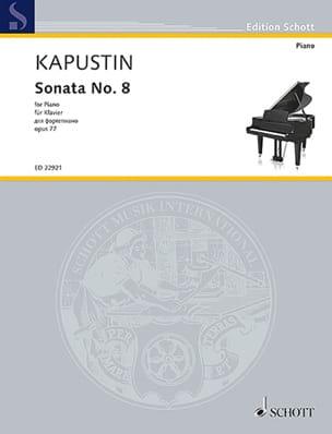 Sonate pour Piano n° 8 Opus 77 - Nikolai Kapustin - laflutedepan.com