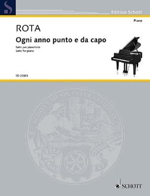 Nino Rota - Ogni anno punto e da capo - Partition - di-arezzo.co.uk